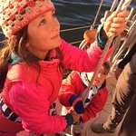 Learning about sails and rigging on the Freda B