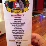 Buzzard Billy's Small Menu