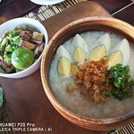 LUGAW with TOKWA'T BABOY - RM6.00  (Filipino style congee - soft-boiled rice cooked in meat