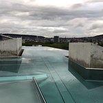 Das Dachbad mit Sicht auf Zürich