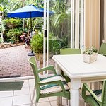 Have breakfast in the private sunroom with a view into our garden