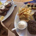 Lamb Chops, and 'beef' burgers