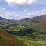 The beautiful Newlands Valley as seen from our walk on Catbells