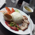 Roast & BBQ Pork with rice