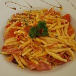 Trofie in spicy tomato sauce (arrabiata)
