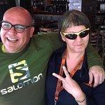 Jill and Derek swopping specs