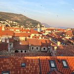 Amazing view over the romantic terracotta rooftops