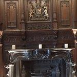Wonderful fireplace in Elizabethan House Museum