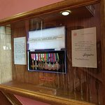 Medals on display