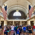 Group shot at Ellis Island