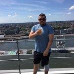 Having a beer overlooking Amsterdam