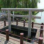忍潮井(おしおい)」と呼ばれる井戸。日本三霊泉の一つですって。