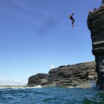 Cliff Jumping with Wetsuits