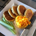 Pimento Cheese and Corn Pancakes