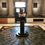 bust of President Hayes in beautiful room