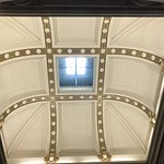 Ceiling in room that President Hayes' bust is located