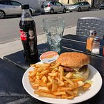 Burger fries and a Coke(zero)
