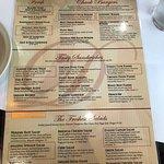 Huge menu