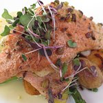 Pistachio Tarragon Crusted Ruby Red Trout