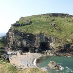 The Tintagel Castle & Merlin's Cave from Coastal Path