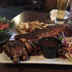 Full rack of ribs and house salad.