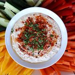 House-made hummus is available for sale in store and in the bistro.