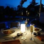Dinner on patio from Portofino's