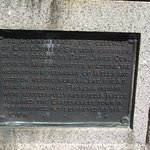 ME - WELLS - STORER GARRISON SHS - CLOSE UP OF PLAQUE ON COMMEMORATIVE MONUMENT
