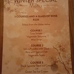 The Winter Special Menu