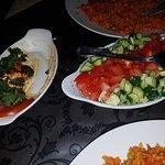 Hummas and Salad