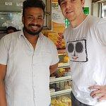 Madu showing us around Kandy