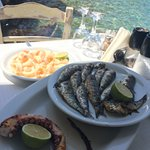 grilled octopus, grilled sardines & fried squid