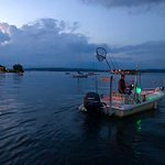 Departing for a moonlight walleye cruise...