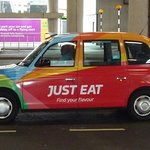 Advertising on the old black cabs