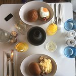 breakfast at Harvey Nichols