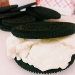 It's here to stay! Our JUMBO Oreo Cookie Ice Cream Sandwiches!
