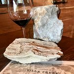 @Villa Creek wine and fossils
