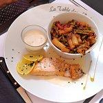 Pavé de saumon et ses légumes