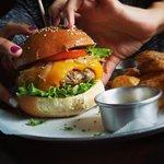 Burgerrrrr and fries!!!!