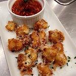 Cheese curds with house made marinara sauce.  Soooo delicious!