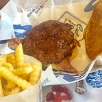 Culver's Butter Bacon Burger with Fries is Tasty