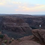 The lookout at horseshoe bend