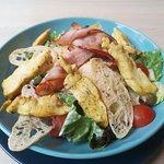 Ceasar salad with ham