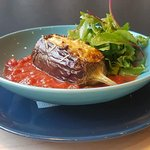 weekend special - grilled stuffed eggplant