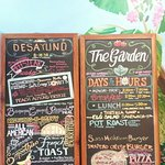 Home made ice cream daily breakfast, lunch, and Dinner pizza specials