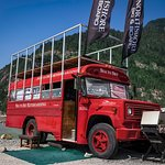 Sea To Sky Kiteboarding School Clubhouse Red School Bus at The Spit