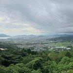 大平山7合目からの景色。防府市内が一望できます。