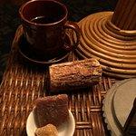 Tea and sweet treats.