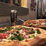 Personal pizzas (Garden of Eden in front, Joey in back)