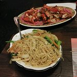 Pepper Lobster (in the shell) with Singapore noodles
